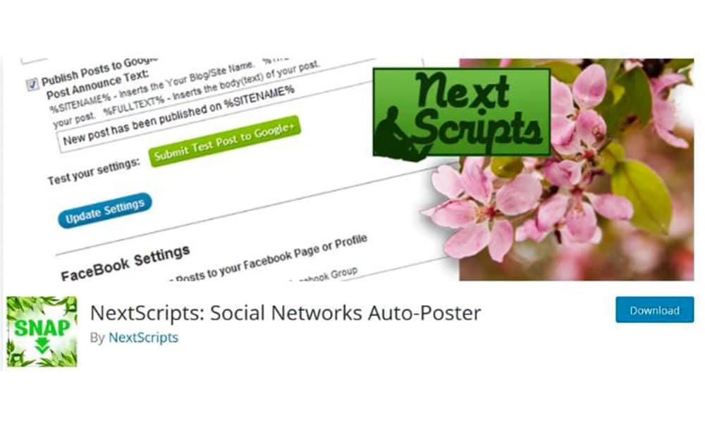 انتشار اتوماتیک مطالب سایت با افزونه Next Script: Social Networks Auto-Poster