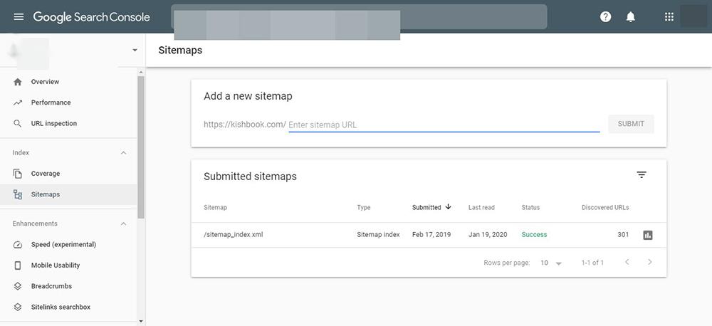 ثبت نقشه سایت در گوگل سرچ کنسول