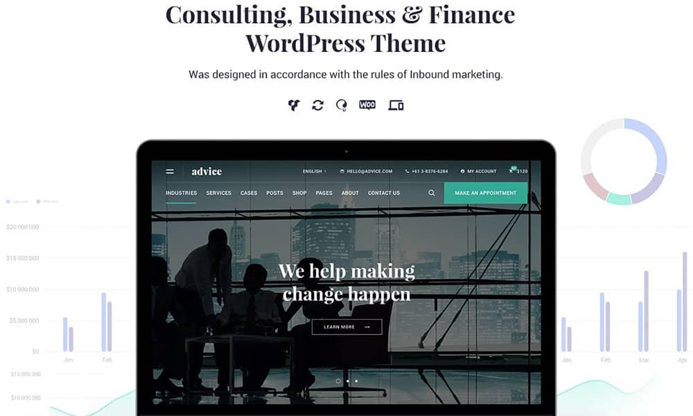 قالب شرکتی وردپرس ادوایز (Advice)