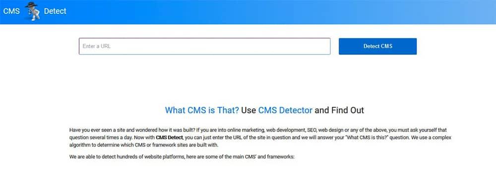 سایت CMS Detector