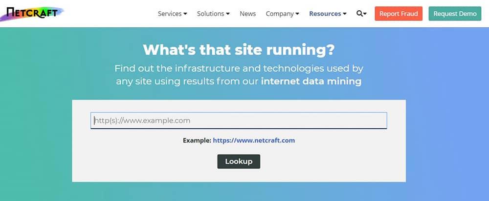 سایت Netcraft Site Report