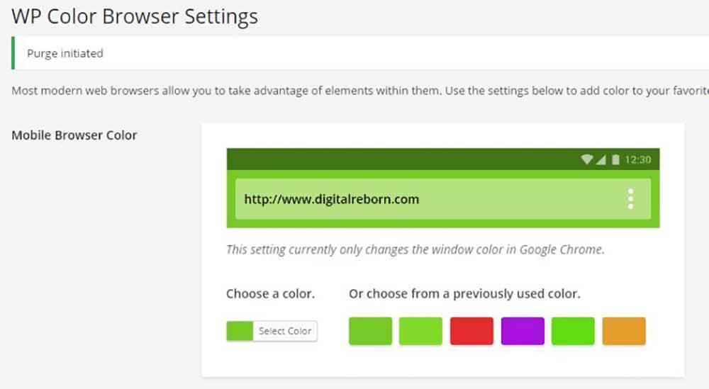 افزونه WP Color Browser